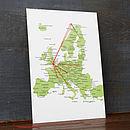 Stitch A Map Postcard: Europe