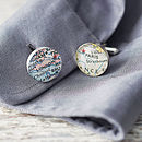 Personalised Location Map Cufflinks By EVY Designs Ltd