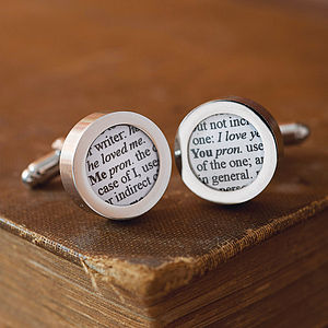 Personalised Dictionary Extract Cufflinks - gifts for book-lovers