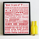 'Rules To Love By' Screen Print