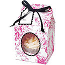 Pink And Black Toile Cupcake Box, Large