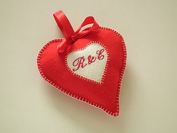 Peronalised Applique Valentine Heart