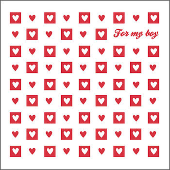 'For My Boy' Valentine's Day Card