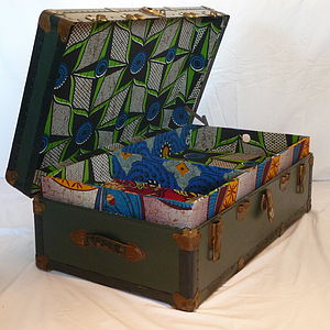 Vintage African Trunk - boxes, trunks & crates