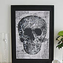 Lace Face Framed Diamante Embellished Artwork