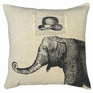 Elephant And Hat Cushion - cushions