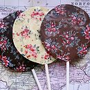 Handmade Chocolate Transfer Lolly