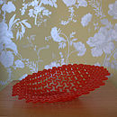 Chilli Red Acrylic Decorative Bowl With Patterned Cuts