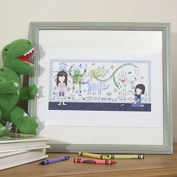 I'm A Little Bit Scared Of... Framed Print