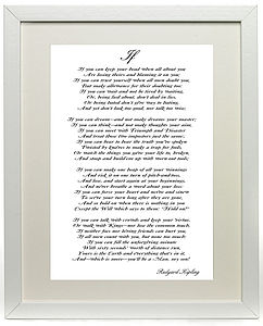 Rudyard Kipling's Poem If Print - art & pictures