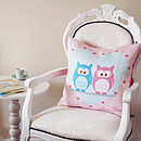 Owls On Love Swing Cushion