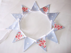 Blue Mini Bunting - children's decorative accessories