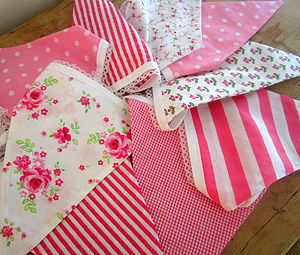 PINK Large Bunting - Can Be Personalised - outdoor decorations