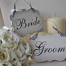 Bride & Groom Wedding Signs