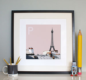'P is for Paris' Print