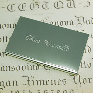 Business Card Holder - for him