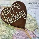 'Happy Birthday' Handmade Chocolate Lolly