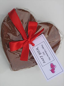 Chocolate Brownie Heart - cakes & sweet treats