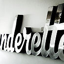 'Launderette' 3D Chrome Sign