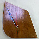up cycled wooden clock medium colour timber