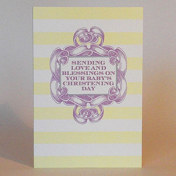 Candy Stripe 'Christening Day' Card