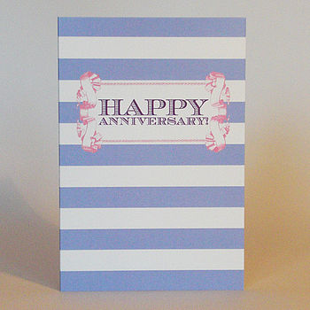 Candy Stripe 'Happy Anniversary' Card