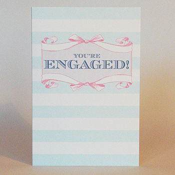 Candy Stripe 'You're Engaged!' Card