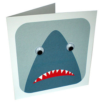 Wobbly Eyed Shark Card