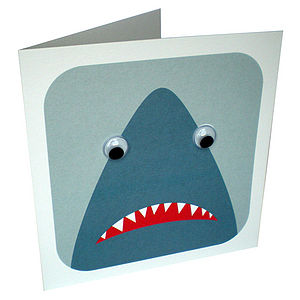 Wobbly Eyed Shark Card - birthday cards