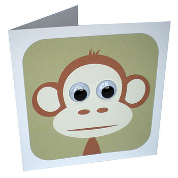 Personalised Monkey Animal Card