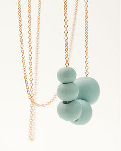 Antalya Porcelain And Golden Necklace - necklaces & pendants