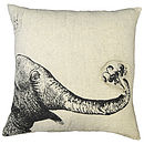 Elephant And Flowers Cushion