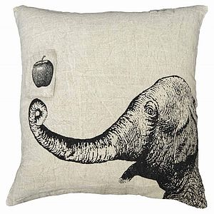 Elephant And Apple Cushion - cushions