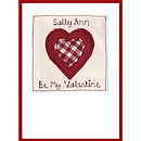 Personalised Heart Valentine's Card