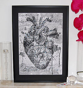 True Love Framed Diamante Embellished Artwork - posters & prints