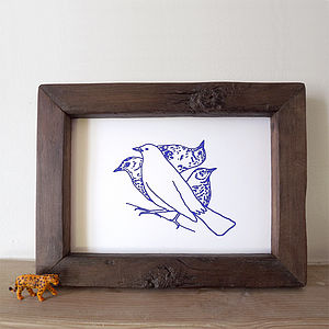 Peekaboo Birds Screen Print - posters & prints