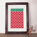 Wine Print 'Ten Green Bottles' Screen Print