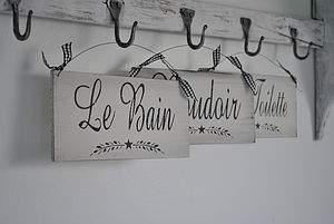 French Vintage Style Room Sign - room decorations