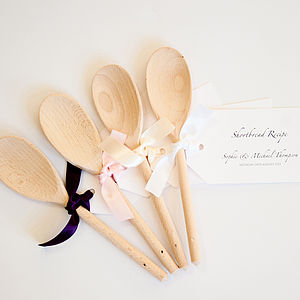 Wooden Spoons With Recipe Tag Favours