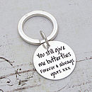 Silver Personalised Message Key Ring