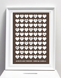 Personalised Wedding Guest Book Poster Print - posters & prints