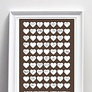 Personalised Wedding Guest Book Poster Print