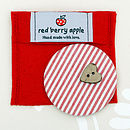 Heart Button Handbag Mirror
