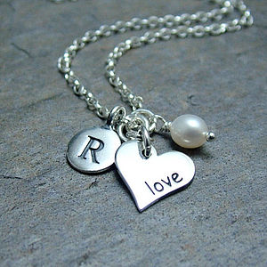 Personalised Love Heart Necklace - charm jewellery