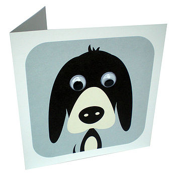Wobbly Eyed Dog Card