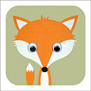 Wobbly Eyed Fox Card