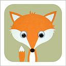 Wobbly Eyed Fox Card