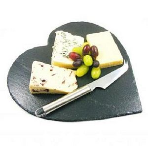 Heart Shaped Slate Cheese Board - kitchen