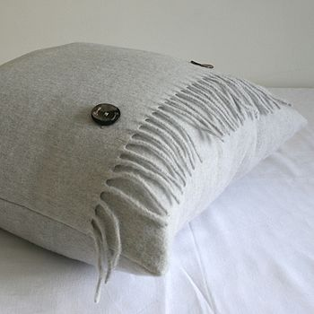 Pearl Grey Merino Wool Cushion