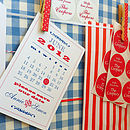 Calendar Personalised Save The Date Cards
